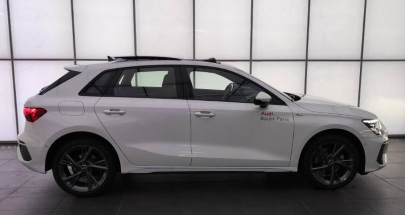 Audi A3 Sportback 40 TFSIe 204 S Tronic 6 S Line Blanc occasion à Saint-Ouen - photo n°2