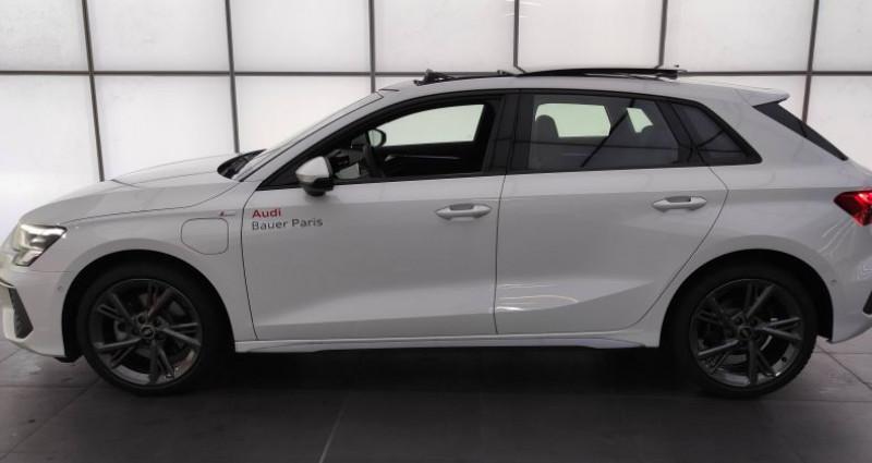 Audi A3 Sportback 40 TFSIe 204 S Tronic 6 S Line Blanc occasion à Saint-Ouen - photo n°3
