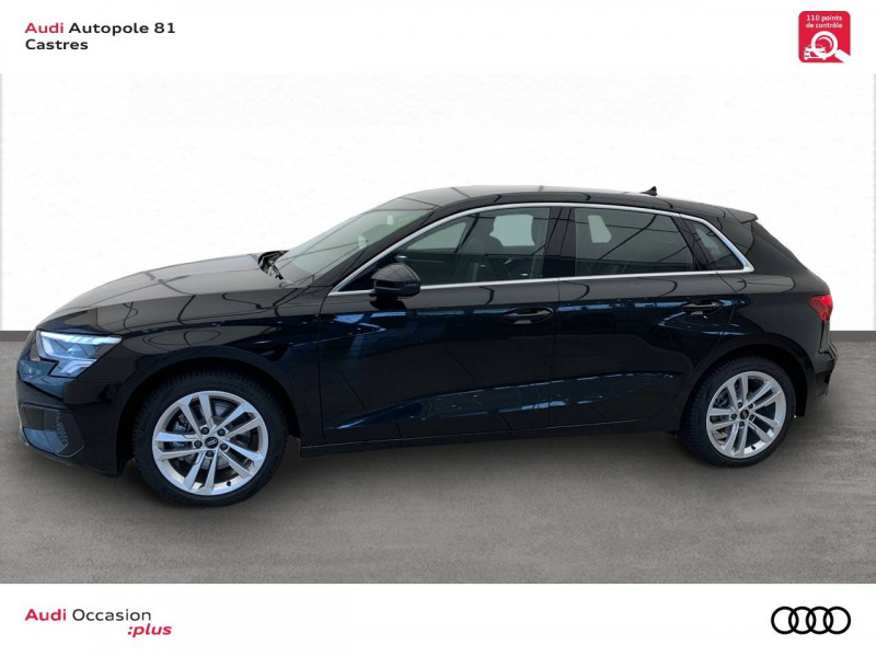 Audi A3 Sportback A3 Sportback 30 TFSI 110 S tronic 7 Design 5p Noir occasion à Castres - photo n°3