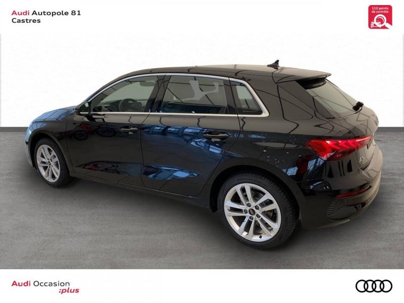 Audi A3 Sportback A3 Sportback 30 TFSI 110 S tronic 7 Design 5p Noir occasion à Castres - photo n°4