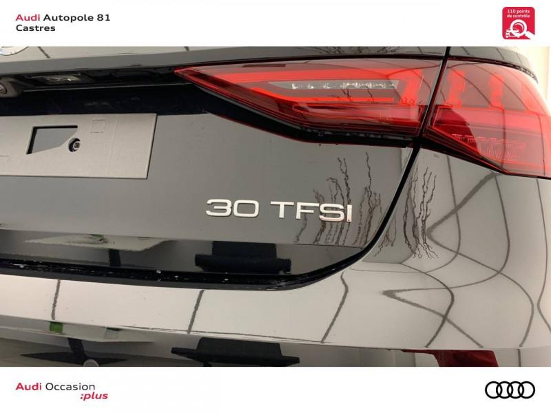 Audi A3 Sportback A3 Sportback 30 TFSI 110 S tronic 7 Design 5p Noir occasion à Castres - photo n°9