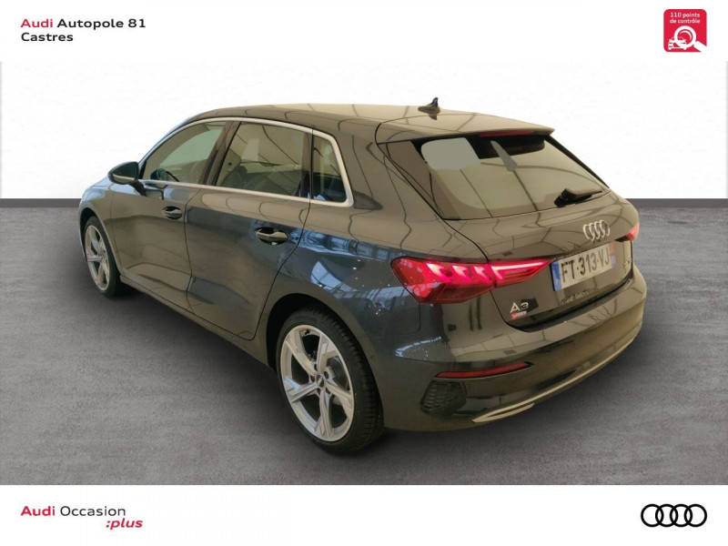 Audi A3 Sportback A3 Sportback 35 TDI 150 S tronic 7 Design Luxe 5p Gris occasion à Castres - photo n°4