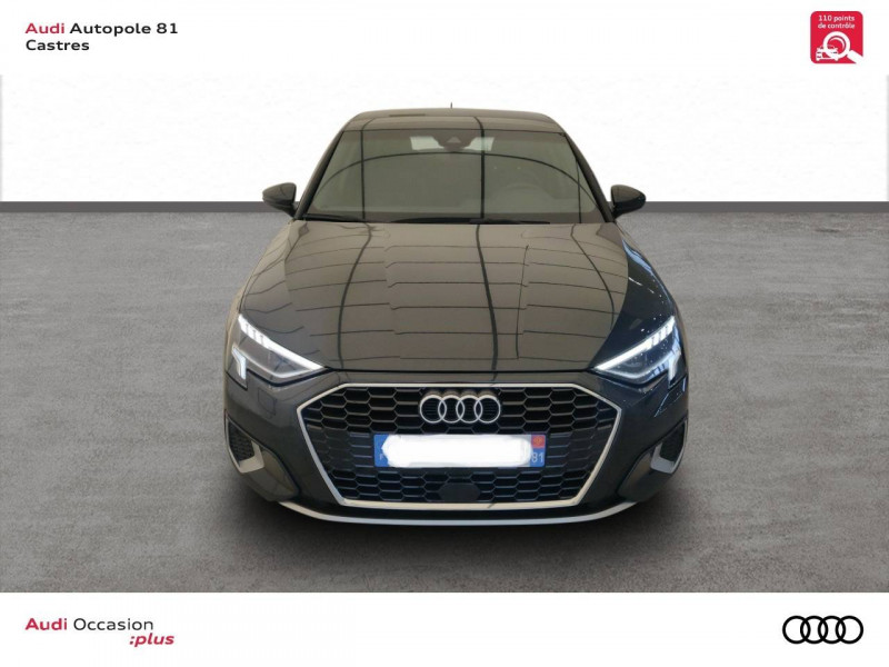 Audi A3 Sportback A3 Sportback 35 TDI 150 S tronic 7 Design Luxe 5p Gris occasion à Castres - photo n°2