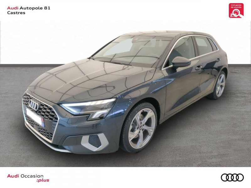 Audi A3 Sportback A3 Sportback 35 TDI 150 S tronic 7 Design Luxe 5p Gris occasion à Castres