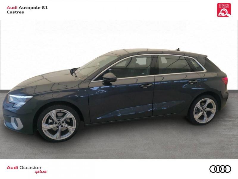 Audi A3 Sportback A3 Sportback 35 TDI 150 S tronic 7 Design Luxe 5p Gris occasion à Castres - photo n°3