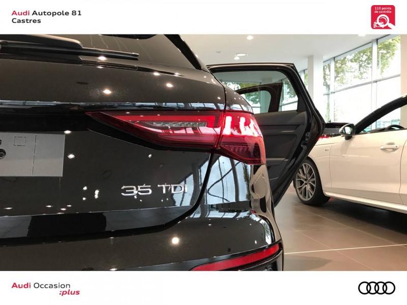 Audi A3 Sportback A3 Sportback 35 TDI 150 S tronic 7 S line 5p Noir occasion à Castres - photo n°11