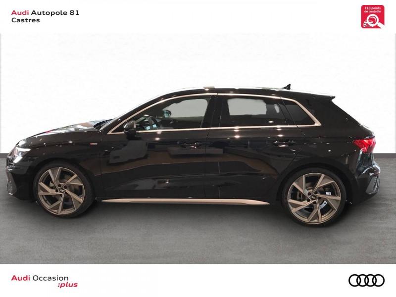 Audi A3 Sportback A3 Sportback 35 TDI 150 S tronic 7 S line 5p Noir occasion à Castres - photo n°3