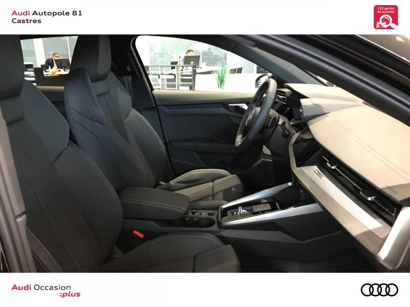 Audi A3 Sportback A3 Sportback 35 TDI 150 S tronic 7 S line 5p Noir occasion à Castres - photo n°6