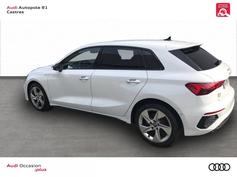 Audi A3 Sportback A3 Sportback 35 TDI 150 S tronic 7 S line 5p Blanc occasion à Castres - photo n°4