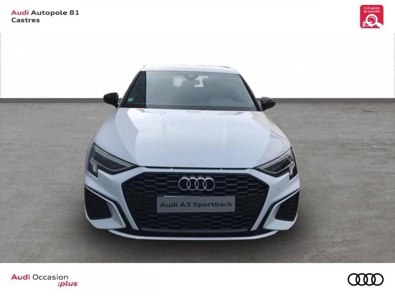 Audi A3 Sportback A3 Sportback 35 TDI 150 S tronic 7 S line 5p Blanc occasion à Castres - photo n°2
