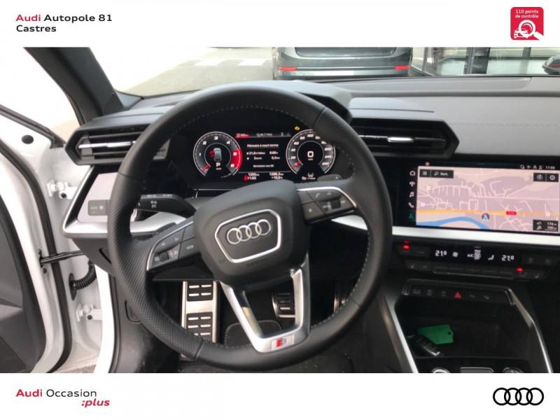 Audi A3 Sportback A3 Sportback 35 TDI 150 S tronic 7 S line 5p Blanc occasion à Castres - photo n°7