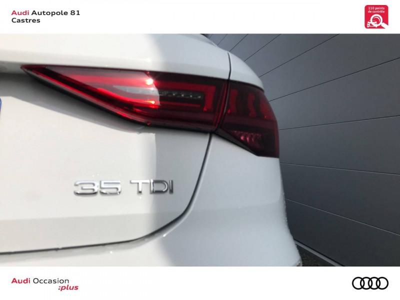 Audi A3 Sportback A3 Sportback 35 TDI 150 S tronic 7 S line 5p Blanc occasion à Castres - photo n°6