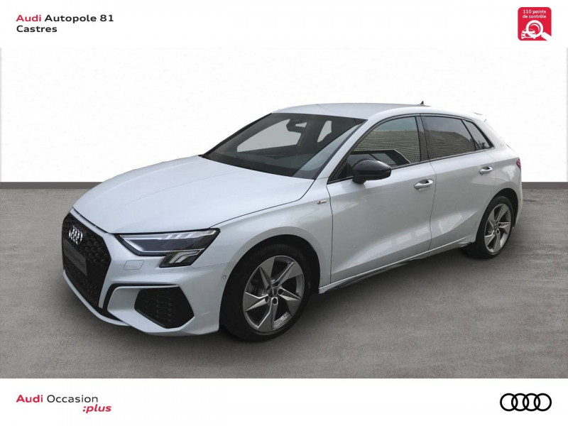 Audi A3 Sportback A3 Sportback 35 TDI 150 S tronic 7 S line 5p Blanc occasion à Castres