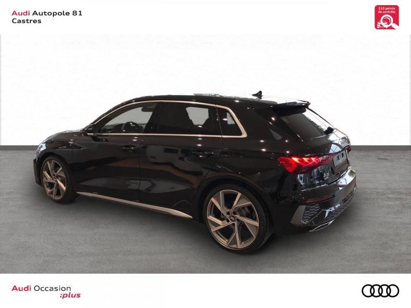 Audi A3 Sportback A3 Sportback 35 TDI 150 S tronic 7 S line 5p Noir occasion à Castres - photo n°4