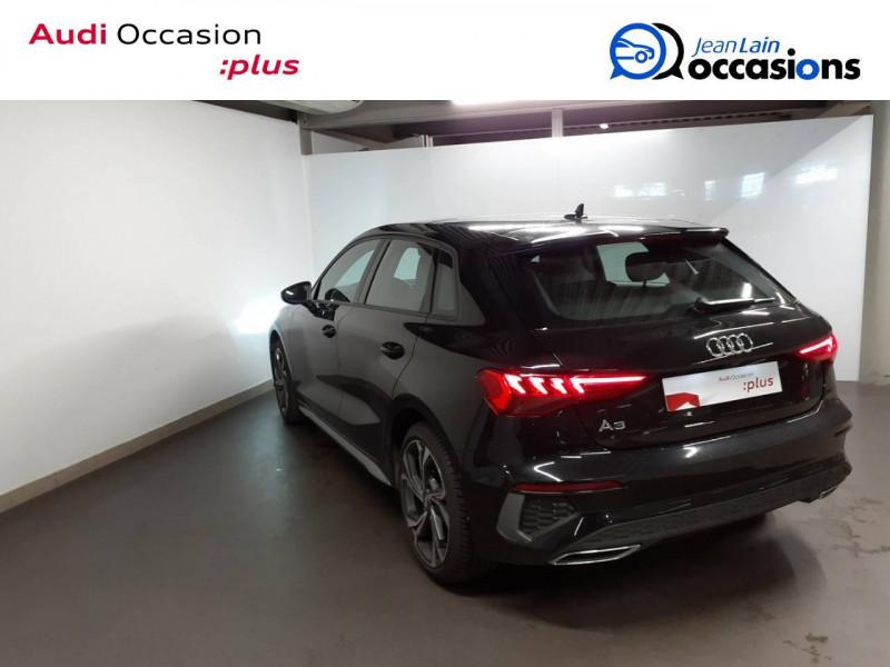 Audi A3 Sportback A3 Sportback 35 TDI 150 S tronic 7 S Line 5p Noir occasion à La Motte-Servolex - photo n°7