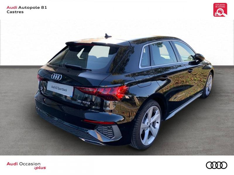 Audi A3 Sportback A3 Sportback 35 TFSI 150 S line 5p Noir occasion à Castres - photo n°3