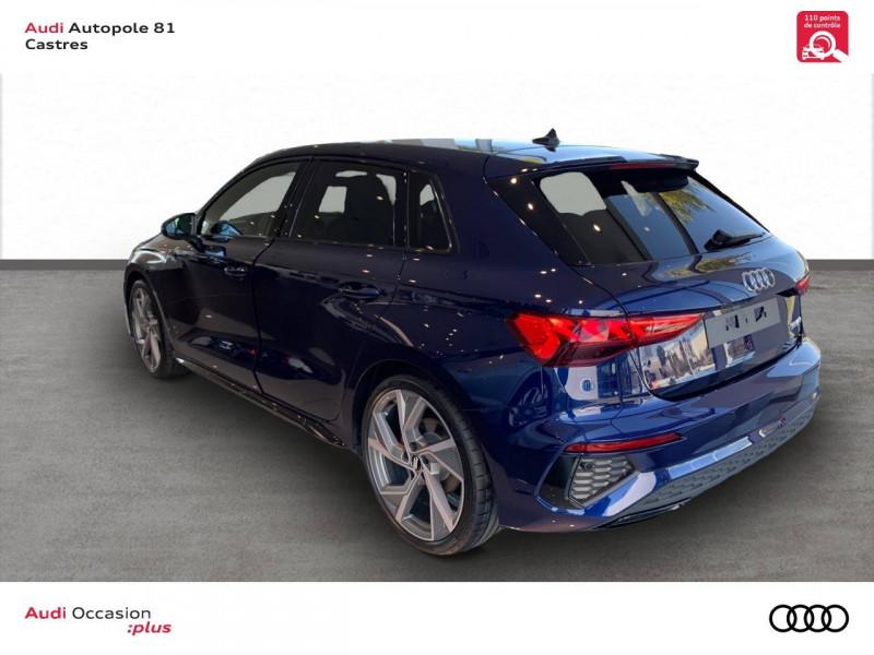 Audi A3 Sportback A3 Sportback 35 TFSI 150 S line 5p Bleu occasion à Castres - photo n°4