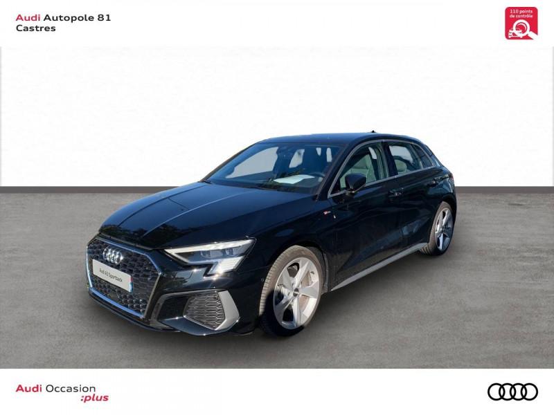 Audi A3 Sportback A3 Sportback 35 TFSI 150 S line 5p Noir occasion à Castres