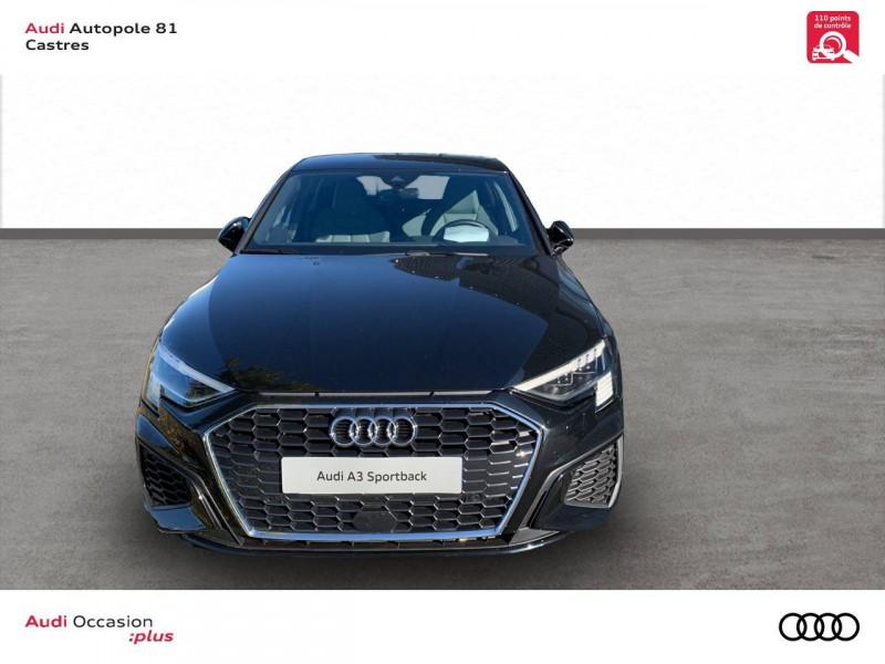 Audi A3 Sportback A3 Sportback 35 TFSI 150 S line 5p Noir occasion à Castres - photo n°2