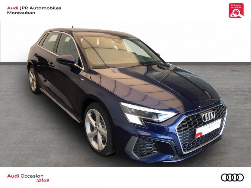 Audi A3 Sportback A3 Sportback 35 TFSI 150 S line 5p Bleu occasion à montauban - photo n°3