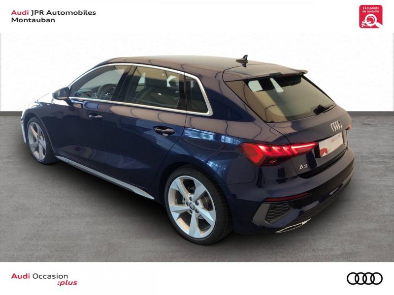 Audi A3 Sportback A3 Sportback 35 TFSI 150 S line 5p Bleu occasion à montauban - photo n°4