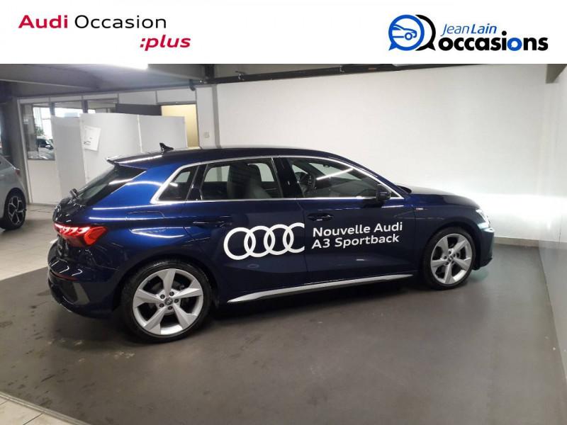 Audi A3 Sportback A3 Sportback 35 TFSI 150 S Line 5p Bleu occasion à Échirolles - photo n°4