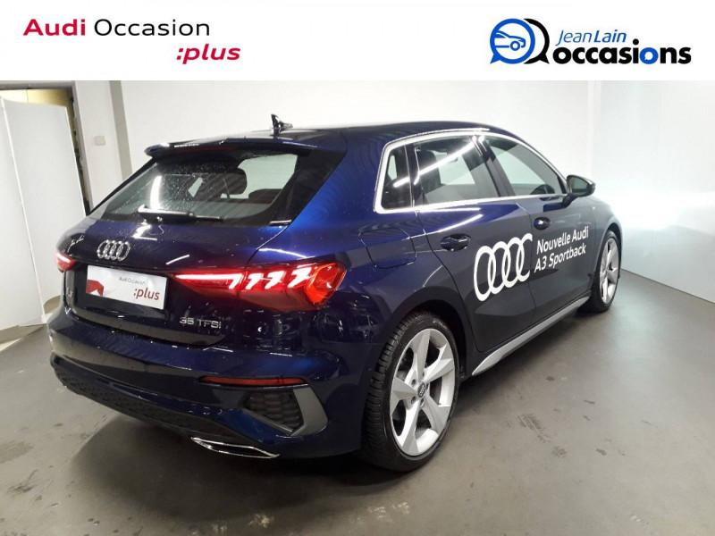 Audi A3 Sportback A3 Sportback 35 TFSI 150 S Line 5p Bleu occasion à Échirolles - photo n°5