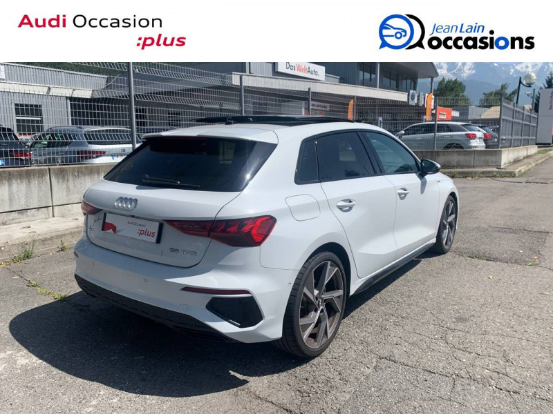 Audi A3 Sportback A3 Sportback 35 TFSI 150 S tronic 7 S Line 5p Blanc occasion à Sallanches - photo n°5