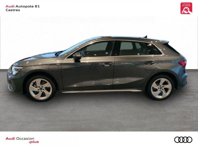 Audi A3 Sportback A3 Sportback 40 TFSIe 204 S Tronic 6 S Line 5p Gris occasion à Castres - photo n°3