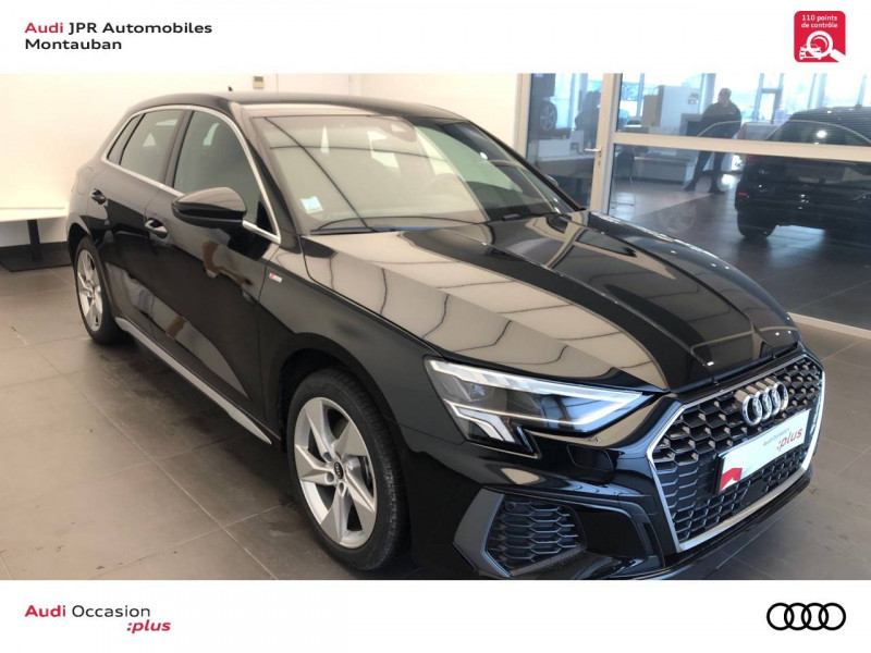 Audi A3 Sportback A3 Sportback 40 TFSIe 204 S Tronic 6 S Line 5p Noir occasion à montauban - photo n°3