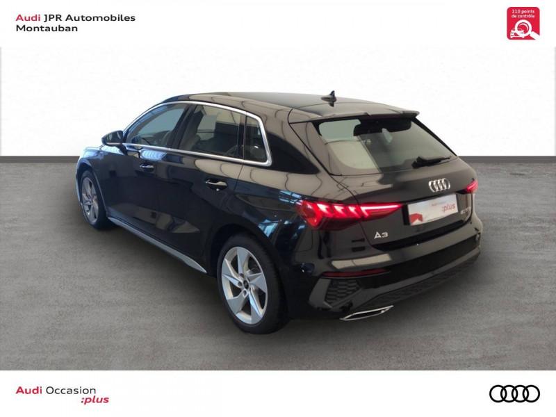 Audi A3 Sportback A3 Sportback 40 TFSIe 204 S Tronic 6 S Line 5p Noir occasion à montauban - photo n°4