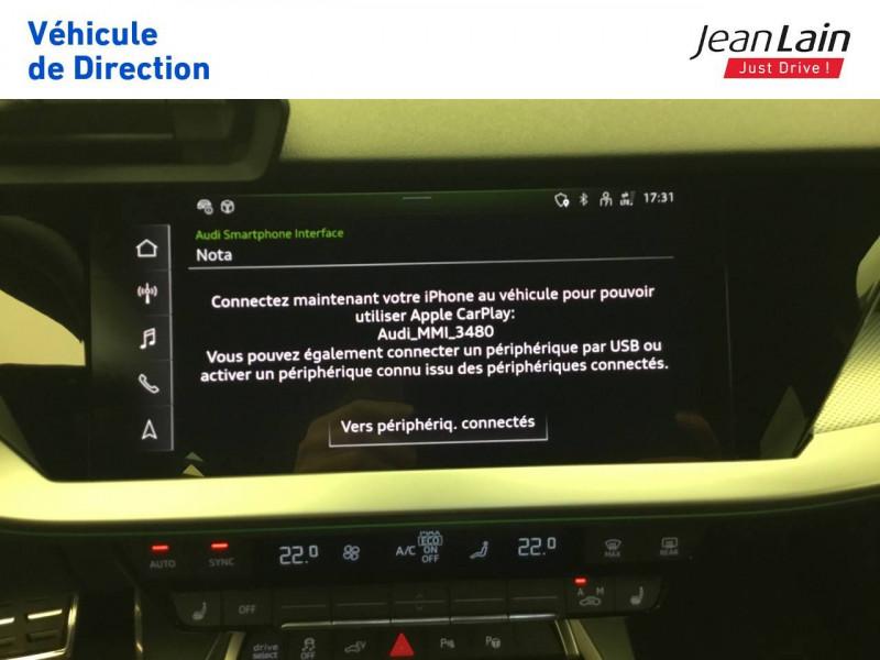 Audi A3 Sportback A3 Sportback 40 TFSIe 204 S Tronic 6 S Line 5p Noir occasion à Seynod - photo n°16