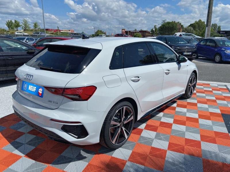 Audi A3 Sportback NEW 35 TDI 150 S TRONIC S LINE GPS Pack Esthétique Noir Blanc occasion à Montauban - photo n°2