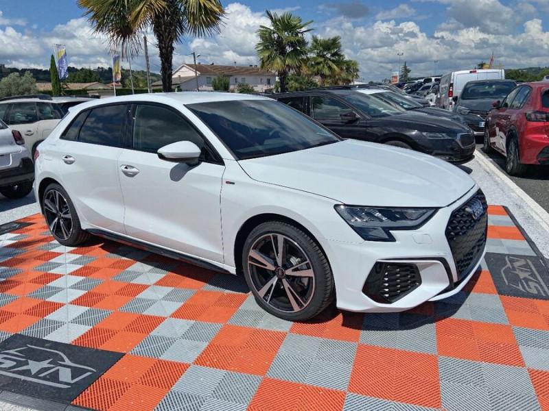 Audi A3 Sportback NEW 35 TDI 150 S TRONIC S LINE GPS Pack Esthétique Noir Blanc occasion à Montauban - photo n°10