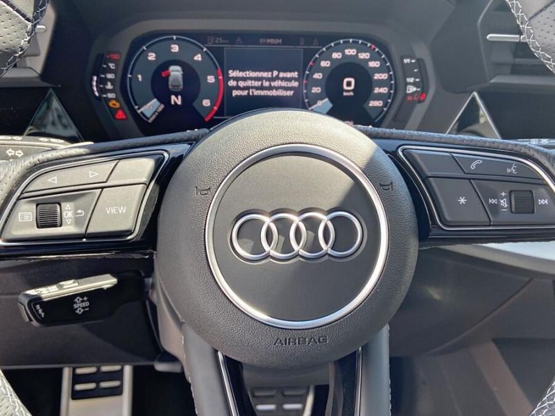Audi A3 Sportback NEW 35 TDI 150 S TRONIC S LINE GPS Pack Esthétique Noir Blanc occasion à Montauban - photo n°15