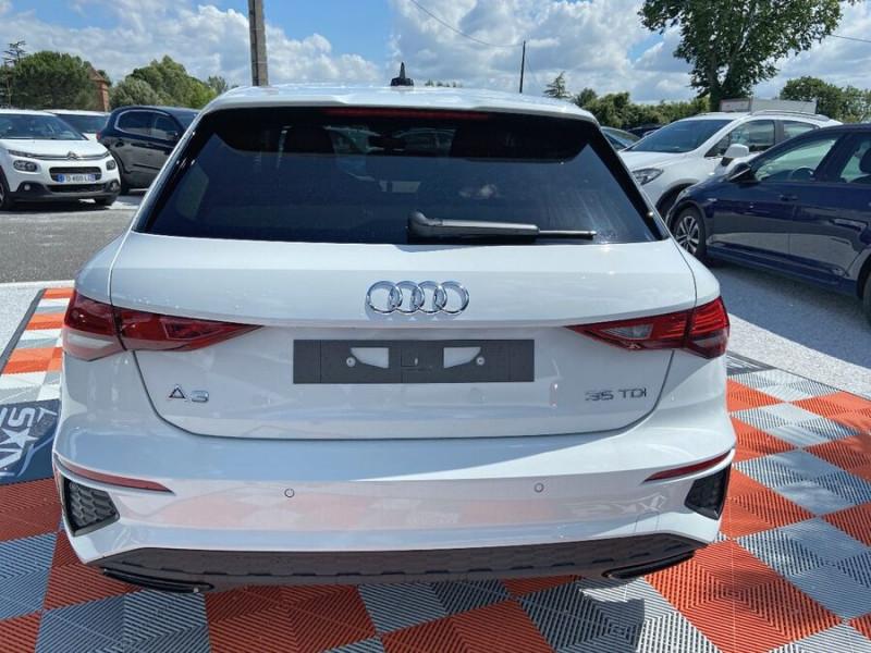 Audi A3 Sportback NEW 35 TDI 150 S TRONIC S LINE GPS Pack Esthétique Noir Blanc occasion à Montauban - photo n°6