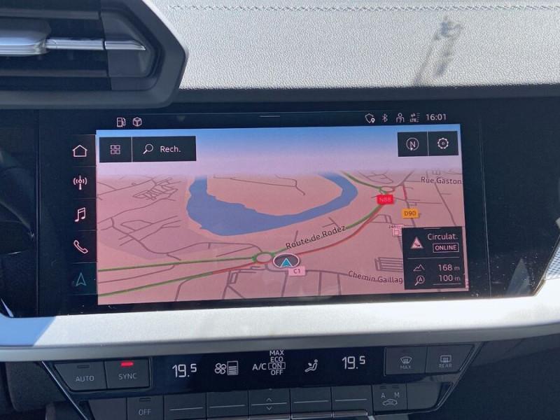 Audi A3 Sportback NEW 35 TDI 150 S TRONIC S LINE GPS Pack Esthétique Noir Blanc occasion à Montauban - photo n°14