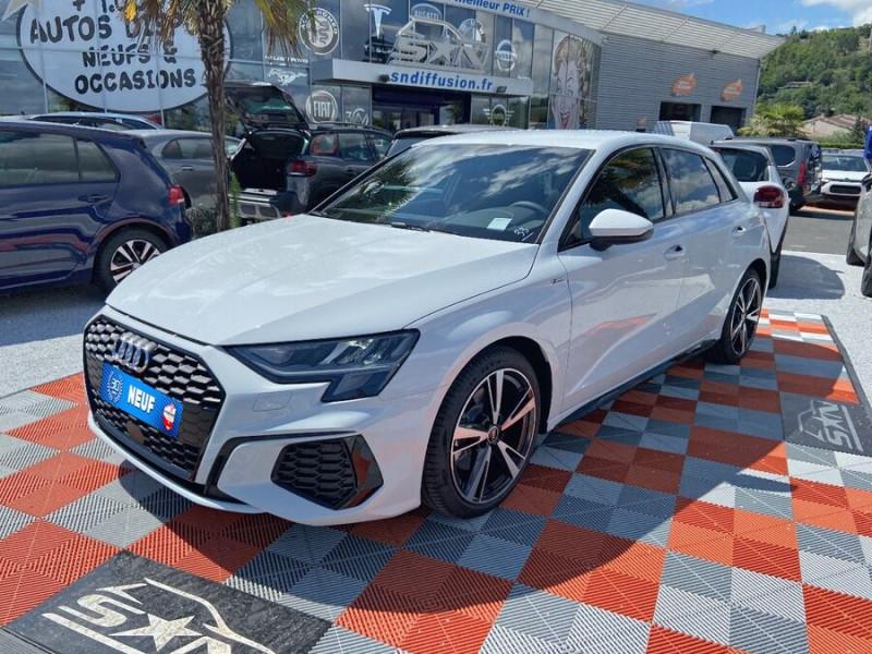 Audi A3 Sportback NEW 35 TDI 150 S TRONIC S LINE GPS Pack Esthétique Noir Blanc occasion à Montauban