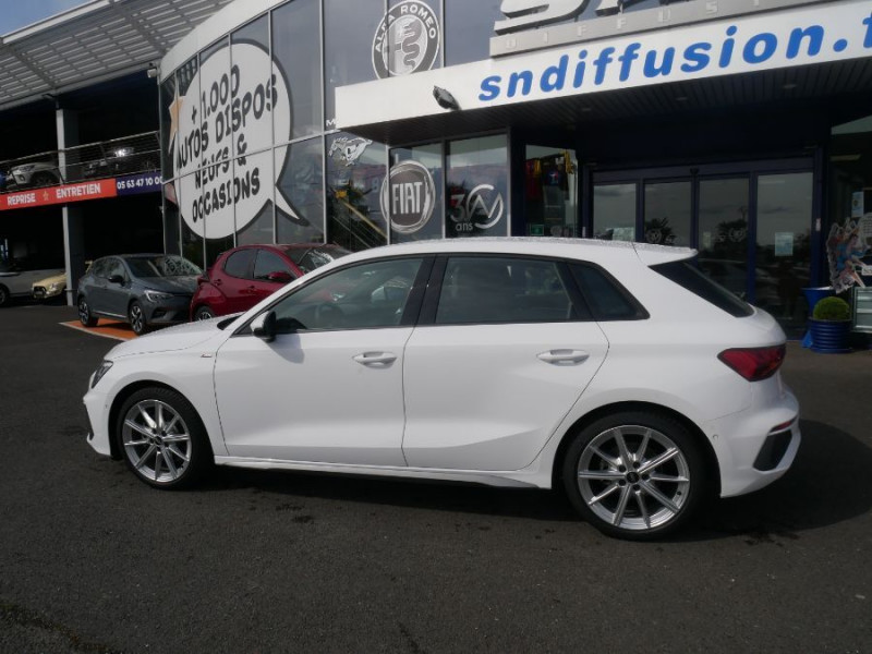 Audi A3 Sportback NEW 35 TDI 150 STRONIC SLINE Export Blanc occasion à Toulouse - photo n°5