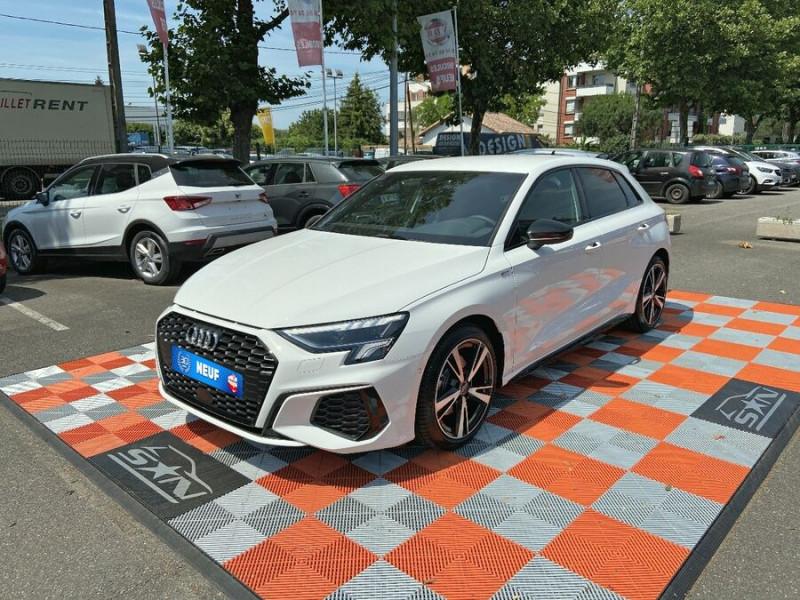 Audi A3 Sportback NEW 35 TDi 150 STRONIC SLINE GPS JA18'' Virtual Cockpit Plus Blanc occasion à Toulouse - photo n°2