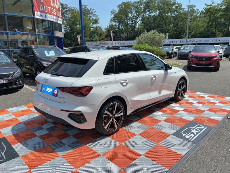 Audi A3 Sportback NEW 35 TDi 150 STRONIC SLINE GPS JA18'' Virtual Cockpit Plus Blanc occasion à Toulouse - photo n°3