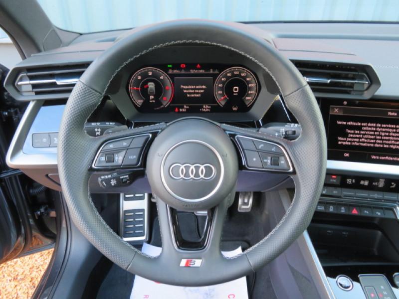 Audi A3 35 TDI 150CH S LINE S TRONIC 7 + JA18 + OPTIONS Gris occasion à Lormont - photo n°14