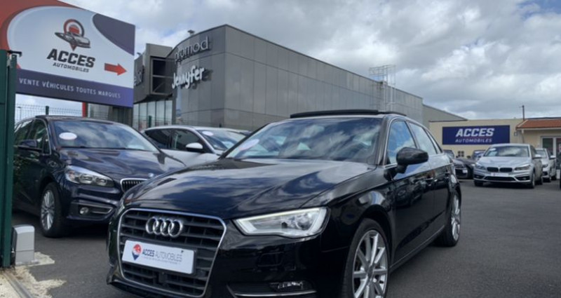 Audi A3 III 2.0 TDI 150ch Ambition Luxe S tronic 6 Noir occasion à HERBLAY - photo n°2