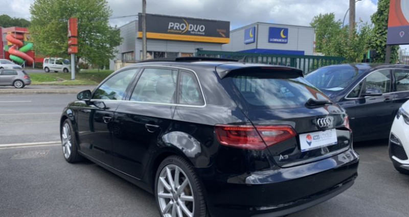 Audi A3 III 2.0 TDI 150ch Ambition Luxe S tronic 6 Noir occasion à HERBLAY - photo n°4