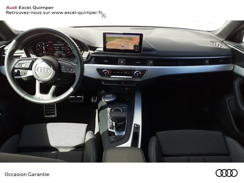Audi A4 Avant 2.0 TDI 190ch S line S tronic 7 Bleu occasion à Quimper - photo n°6