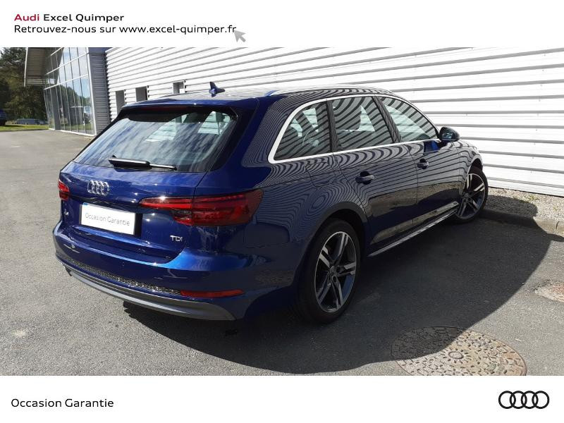 Audi A4 Avant 2.0 TDI 190ch S line S tronic 7 Bleu occasion à Quimper - photo n°4