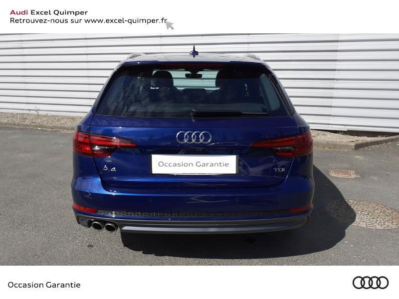 Audi A4 Avant 2.0 TDI 190ch S line S tronic 7 Bleu occasion à Quimper - photo n°5