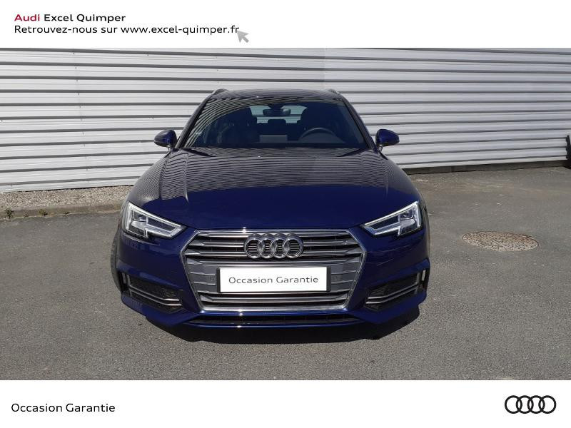 Audi A4 Avant 2.0 TDI 190ch S line S tronic 7 Bleu occasion à Quimper - photo n°2