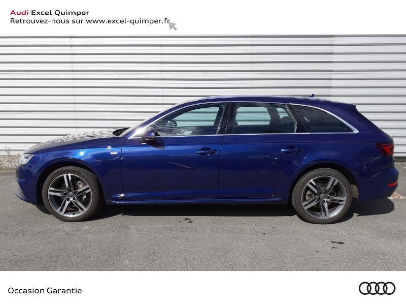 Audi A4 Avant 2.0 TDI 190ch S line S tronic 7 Bleu occasion à Quimper - photo n°3