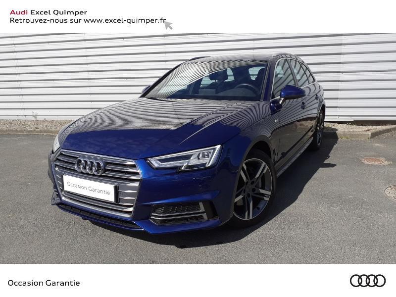 Audi A4 Avant 2.0 TDI 190ch S line S tronic 7 Bleu occasion à Quimper